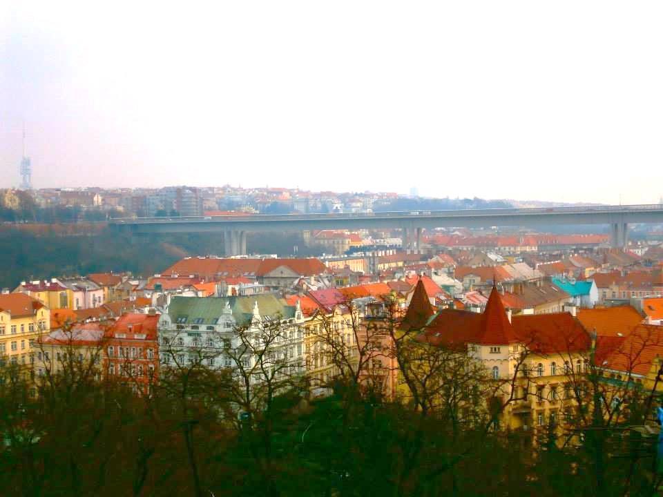 プラハ城から眺めた景色