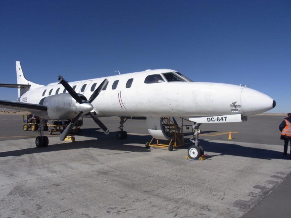 ボリビア ウユニ塩湖 飛行機移動