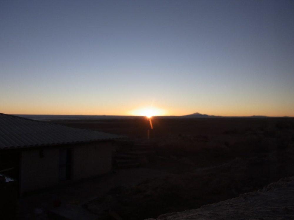 ボリビア ウユニ塩湖 サンセット