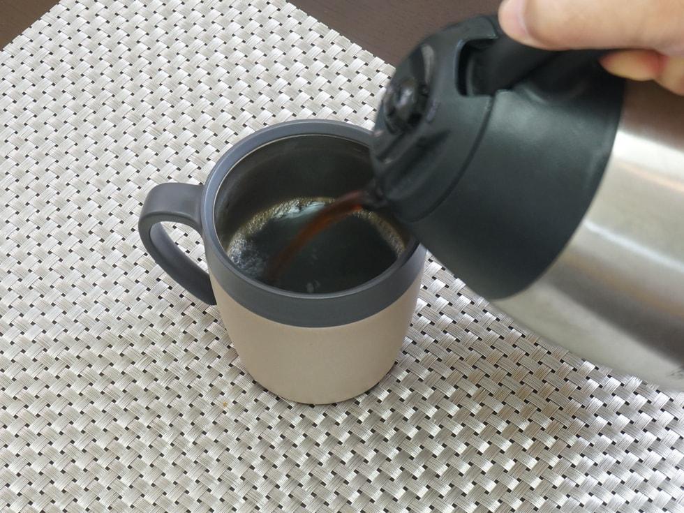 ハンディシェイクジューサー コーヒー 完成
