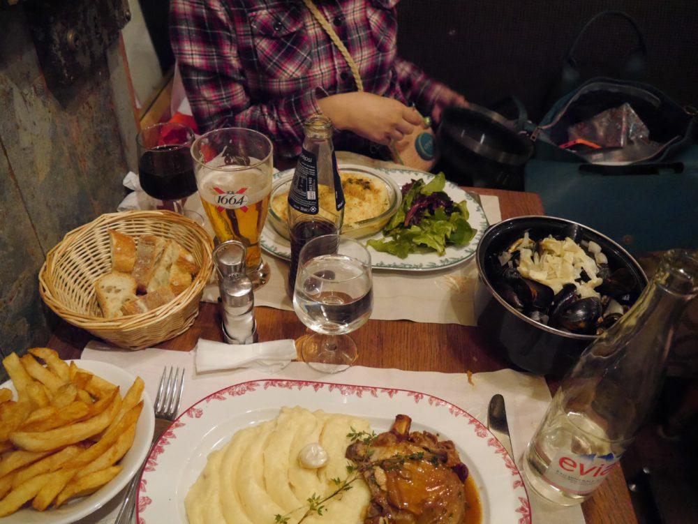 パリ 食事 ポテト料理
