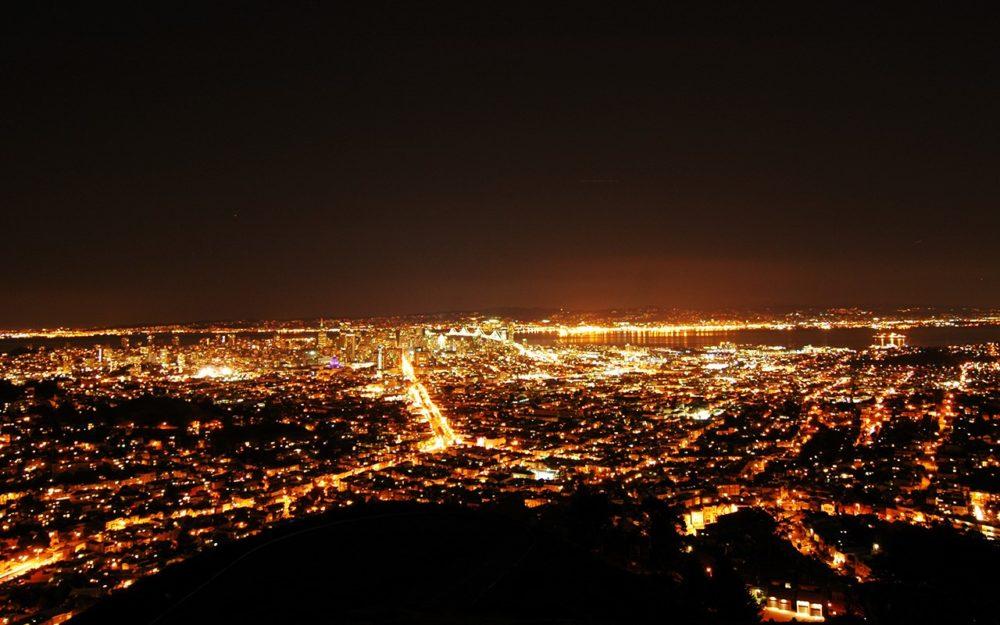 サンフランシスコ ツインピークス 夜景